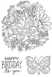 Woodware - Butterfly Posy - Clear Magic Single Stamp - JGS568